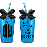 Doctor Who; Tardis; Keep Calm; I'm the Doctor; Tumbler; Cup