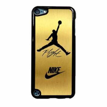 DCKL9 Nike Jordan Flight Jump In Gold Texture iPod Touch 5th Generation Case