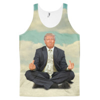 Zen of Donald Trump Meditation All Over Print Tank Top