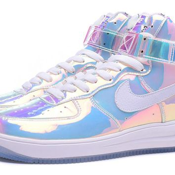 Nike Air Force 1 ID 779456 991 White For Women Men Running Sport Casual Shoes Sneakers