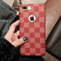 LV Trending Print iPhone Phone Cover Case For iphone 6 6s 6plus 6s-plus 7 7plus hard shell Red G