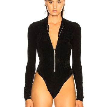 BEAU SOUCI Dive Bodysuit in Black | FWRD