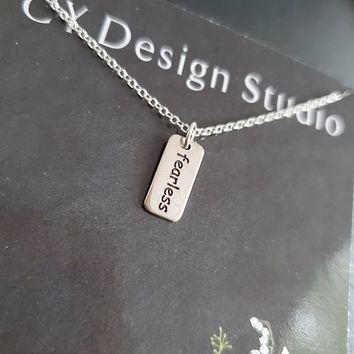 Fearless Charm Sterling Silver Necklace