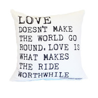 valentines day typography quote love pillow cover throw pillow script 18x18 linen graphic home decor black white
