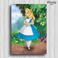 alice in wonderland poster disney girl print nursery gifts