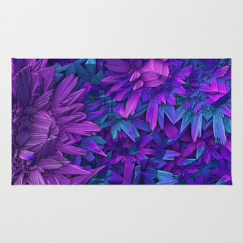 Purple Jungle Area & Throw Rug by Lyle Hatch