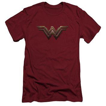 Wonder Woman/Wonder Woman Logo Mens Slim Fit Shirt