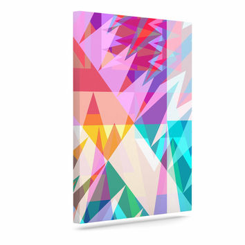 "Miranda Mol ""Triangle Feast"" Abstract Geometric Canvas Art"