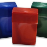 Crush-Proof Plastic Flip Top Hinged Lid Cigarette Case for King Size