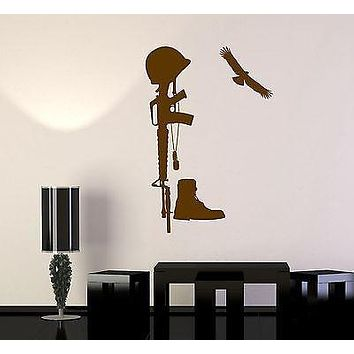 Wall Vinyl Marine Fallen Soldier Eagle Boots Guaranteed Quality Decal Unique Gift (z3451)