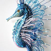 Seahorse art sculpture wall hanging