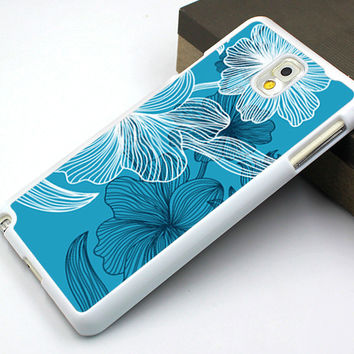 water lily samsung case,water lily note2 case,art flower note3 case,blue flower note4 csae,lotus galaxy s3 case,lotus galaxy s4 case,flower design case,elegant flower case,best seller case,art flower cover,birthday present,christmas gift
