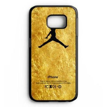 CREYUG7 Michael Jordan Golden Gold Pattern Samsung Galaxy S6 Edge Case