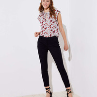 Skinny Zip Pocket Sateen Pants | LOFT