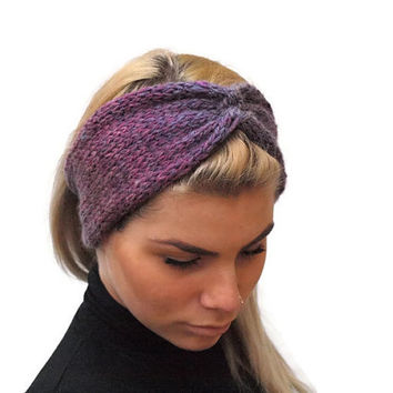 Ombre handknitted headband, Womens Ear Warmer, woman accesssory, fashion accessory