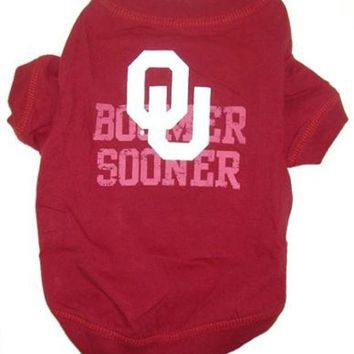 LMFHJ2 Oklahoma Sooners Pet Shirt XS