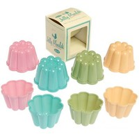 Retro Pantry Style Set Of Four Jelly Moulds