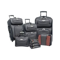 Travel Select Amsterdam 8-Piece Softshell Deluxe Expandable Rolling Luggage Set with Packing Cubes