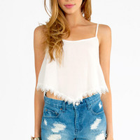 Lilah Trimmed Crop Top $38
