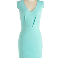 Change with the Clock Dress in Mint
