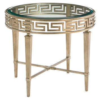 """Lexington Home Brands, Aston 28"""" Round Side Table, Gold, Standard Side Tables"""