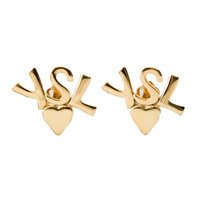 Yves Saint Laurent Vintage Logo Earrings
