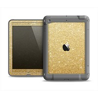 The Gold Glitter Ultra Metallic Apple iPad Mini LifeProof Fre Case Skin Set