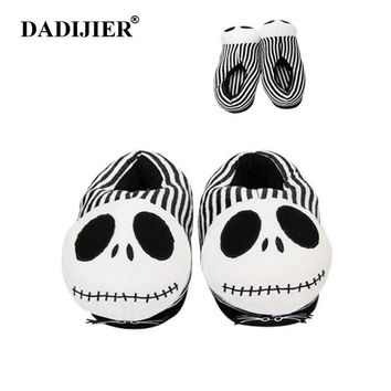 DADIJIER Christmas Night Toy Scare Plush Slippers Halloween Funny All-inclusive With Home Cotton Man Shoes wyq245