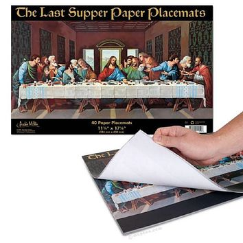 Last Supper Paper Placemats (40 pack)