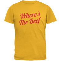 Where's The Beef Gold Adult T-Shirt