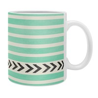 Allyson Johnson Mint Stripes And Arrows Coffee Mug