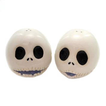 Disney JACK SKELLINGTON SALT & PEPPER Ceramic Tim Burton 6001018