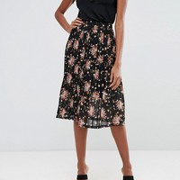Y.A.S Small Flower Pleated Skirt at asos.com