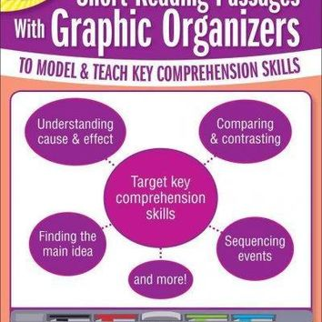 Interactive Whiteboard Activities: Short Reading Passages With Graphic Organizers to Model & Teach Key Comprehension Skills, Grades 6-8