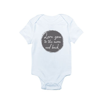 Love You to the Moon and Back Bodysuit and Tee