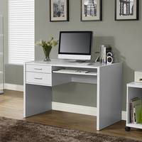 "White Hollow-Core 48""L Computer Desk"