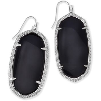 Kendra Scott: Danielle Silver Earrings In Black