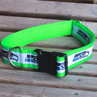 Seahawks Dog Collar in different widths
