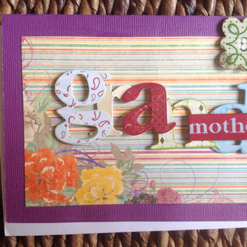 Grandmother Mother's Day Handmade Greeting Card