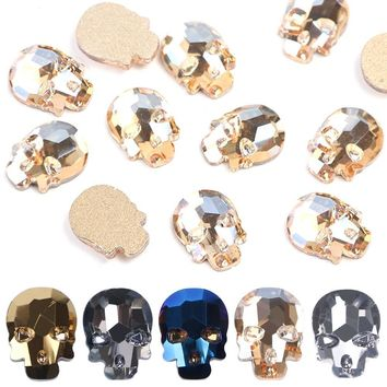 10pcs ☠ Skull Rhinestones for Nails