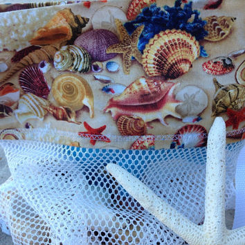 Shell Bag,  Sea Shell Bag, Scallop Bag, Shell Collecting bag, Adult, Kids, Mesh Bag, Beach Bag, SeaShell mesh bag, sheashells bag,