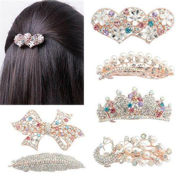 PEAP78W LNRRABC Women Elegant Crystal Twinkling Hair Clip Heart Bow Butterfly Hairpin Barrettes Hair Accessories prendedor de cabelo
