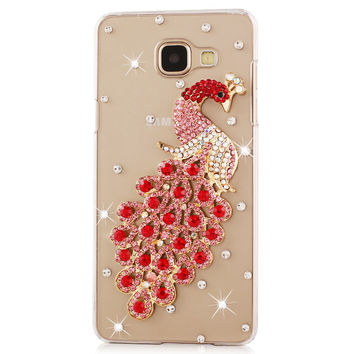 Luxury Rhinestone slim cover case For Samsung Galaxy S7 S6 edge plus S5 S4 S3 Note5 note4 2 3 A9 A8 A5 A7 J5 J710 C5 cases shell