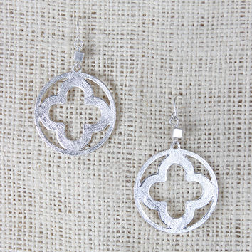 Open Clover Dangle Earrings