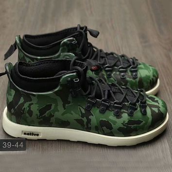 Native Fitzsmmons boots for men shoes waterproof Martin boots lovers Green Camouflage G-A0-HXYDXPF