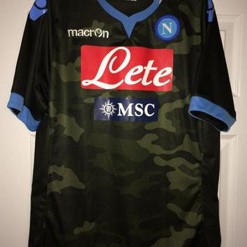 Sale!! Vintage Macron NAPOLI Soccer Jersey Italy Football Shirt