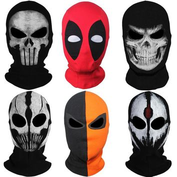 Deadpool Dead pool Taco 20 Style Balaclava Ghost X-men Masks  Punisher Deathstroke Grim Reaper Tactical Halloween Clown Costume Full Face Mask AT_70_6