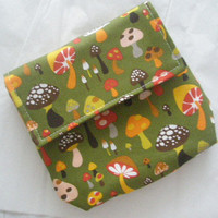mushroom  BELT POUCH    fanny pack   carry all by DinkettyPoppety