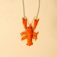 Hanging Crayfish Necklace in Custom Colors