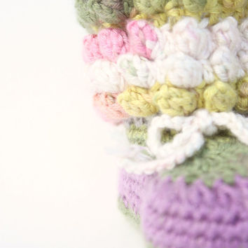 Crochet Baby Booties Shoes Pattern, Popcorn Stitch, Girl, Boy, PDF Instant Download